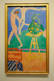 Dance By Henri Matisse. Nasturtiums with the Painting Dance is a painting by the French painter Henri Matisse on display athe Metropolitan Museum of Art in New Stock Photos
