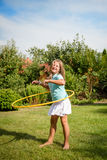 Dance with hoop Royalty Free Stock Images
