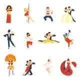 Dance Icon Flat Stock Image