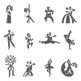 Dance Icon Set Royalty Free Stock Photo