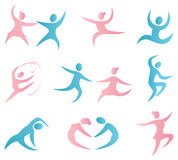 Dance icons Royalty Free Stock Photo