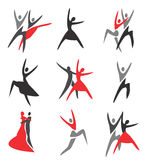 Dance icons Royalty Free Stock Photos
