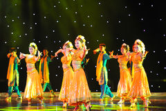 Dance of India�Collective dance Royalty Free Stock Images