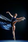 Dance inspiration. Graceful beautiful ballet dancer posing at studio. Art concept Royalty Free Stock Photo