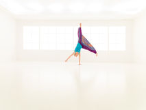 Dance jumping women gym Royalty Free Stock Photography