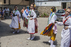 Dance of Las Italinas, also known as Dance of the Gypsy of Cacer Stock Images