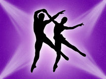 Dance in the light Stock Photography