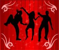 Dance in light of disco Stock Photos