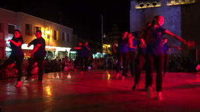 Dance and Light Show In Merida Yucatan stock video