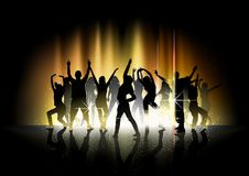 Dance And Light Show Royalty Free Stock Image