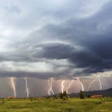A Dance of Lightning Bolts in the Foothils Stock Photos