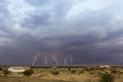 A Dance of Lightning Bolts Near San Jose Stock Photos
