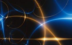 Dance of Lights in the dark, fractal 02FX3 Stock Image