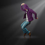 Dance like michael. Male street dancer, dance like michael jackson Royalty Free Stock Photo