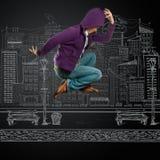 Dance like michael. Male street dancer, dance like michael jackson Stock Photography