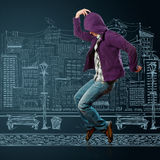 Dance like michael. Male street dancer, dance like michael jackson Stock Photo