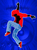Dance like no one is watching. Graphic of a dancing boy, abstract art Stock Photography