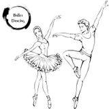 Dance line ballet Stock Image