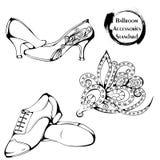 Dance line ballroom standard accessories Royalty Free Stock Photography
