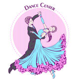Dance line color ballroom dancing classic Royalty Free Stock Images