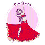 Dance line color belly dance Stock Photos