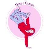 Dance line color break dance Stock Photos