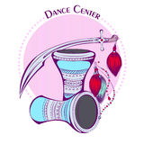 Dance line color tribal accessories Stock Images