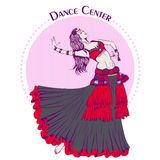 Dance line color tribal belly dance Royalty Free Stock Photography