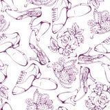 Dance line pattern ballroom dancing Royalty Free Stock Image