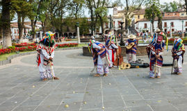 January 26, 2013, Patzcuaro, Michoacan, Mexico: Dance of the little old men Danza de los Viejitos. The Dance of the little old men performance in Patzcuaro Stock Photo