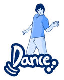 Dance man Royalty Free Stock Photography