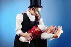 Dance with a mask Royalty Free Stock Photography