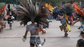 Dance of Maya Indians stock footage