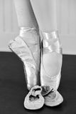 Dance Memories. A dancer with her first pair of ballet shoes Royalty Free Stock Photo