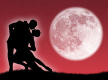 Dance in the moon Stock Photography