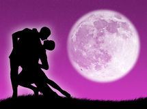 Dance in the moon Royalty Free Stock Image