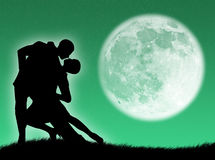 Dance in the moon Royalty Free Stock Photography