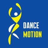 Dance Motion - Vector Logo Template Stock Image