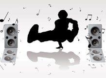 Dance music vector illustration