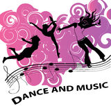 Dance and music Royalty Free Stock Photos