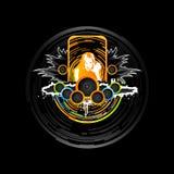 Dance music design element royalty free illustration