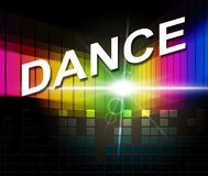 Dance Music Indicates Sound Track And Soundtrack Stock Photo