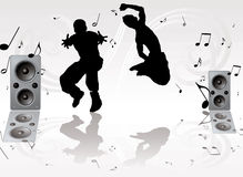 Dance music pair Royalty Free Stock Photo