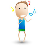 Dance, musical composition. funny cartoon royalty free illustration