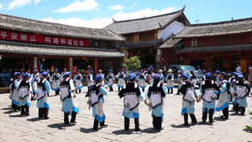 The dance of naxi people Royalty Free Stock Images