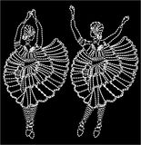 Dance needlework Stock Photo