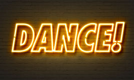 Dance neon sign Stock Images