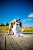 Dance of a newly married couple Royalty Free Stock Photography