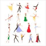 Dance o festival, estilos diferentes da dança, ícone liso ilustração royalty free