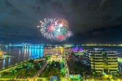 Dance o rio de Saigon da flor de noite Imagem de Stock